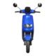 Elektroroller R1.1 blau Vorderansicht