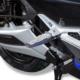 Elektroroller R1.2 blau Detail Fussraster